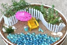Fairy Gardens/mini gardens / by Sherry Ruark Mihalovich