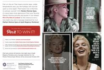 Pin it to win it! / 1) Follow us on Pinterest: pinterest.com/montereyhyatt 2) Create a board titled: Marilyn Monroe Spas at Hyatt Regency Monterey 3) Add a minimum of 5 pictures of your favorite Marilyn Monroe pictures and/or quotes with the hashtag #MarilynMonroeSpasAtHyattRegencyMonterey 4) Email a link your board to: marci@chatterboxpublicrelations.com  One lucky winner will receive a two-night stay at Hyatt Regency Monterey and a massage treatment for 2 at Marilyn Monroe Spas! Winner will be on October 5th! / by Hyatt Regency Monterey Hotel And Spa