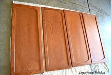 kitchen cabinet ideas / by Susan Shimp Heinrich