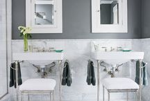 DESIGNER BATHROOMS / some fabulous designer bathrooms... / by Cristin Priest | Simplified Bee