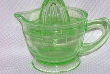 Green Depression Glass / by Brenda Sandrick