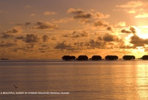 Sunsets / Beautiful sunsets from the Maldives / by Conrad Maldives