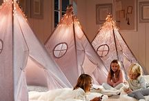 Bed Dress / Starry Lights for canopy bed / by Beth Mitchell