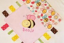 personalized tag blankets / by Kathy Klimczak