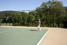 Tennis at the Highlands Country Club / Spend your summer at Highlands Country Club and enjoy swimming, pool & golf.  Tennis clinics for all ages take place throughout the week and our tennis pro is available for private lessons.  http://www.highlandscountryclub.net / by Highlands Country Club