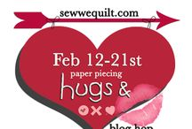 Hugs and Kisses in Paper Piecing / If you love paper piecing, Soma and I ( Mdm Samm) have come up with a 15 page pattern that will have you filling your heart with hugs and kisses….check us out sewwequilt.com for details / by Mdm Samm ...