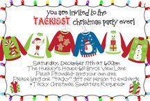 Tacky Christmas sweater party  / by Jessica Hamblin