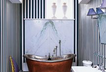 bathroom stripes / by Heather Peterson
