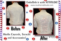 Southern Attitude / Crystals, stencils, owned by The Pattern Hutch / by The Pattern Hutch