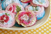 Handmade flowers / crafts / by Frances Knitz