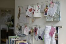 Workspace / inspiration for my dream workspace... loving moodboards and bookshelves... / by Sandy
