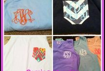 Monogrammed T-shirts and Tanks / by Zeal Boutique