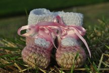 Baby Booties / homemade crocheted baby booties  / by Wee Little Changes, LLC