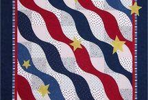red/white/blue/flag quilts / by Glenda Oliver