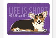 Completely Corgi / Dedicated to my beloved Lily and to the memory of the beautiful Audrey / by Kaye Coleman