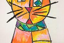Kinder art lessons / by Christine G