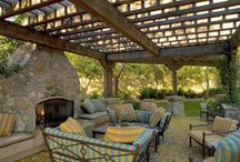 Pergola with Fireplace / by Stonepocket Unique Landscapes