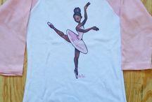 ballerinas tshirts / by Estudio Cascanueces