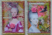 Marie Antoinette - altered art / by Taarna T