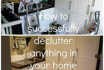 de clutter ideas / by Christy Topp