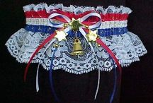 Patriotic Garter - RNC Garter - DNC Garter - Tea Party Garter / Life's a Party. Patriotic Garters - RNC Garter or DNC Garter - Tea Party Garters in R-W-B. Express yourself to the Nation at the Tea Party movements and Town Hall conventions. Political charms and Military wedding camouflage Garters for Army Navy Marines and Air Force. Patriotic Wedding Garter. Patriotic Bridal Garter. Custom Accessories Garters LLC - www.garters.com  / by garters.com