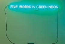Words in Neon  / These words in neon seem like something that belong in an absinthe inspired nightclub. We are collecting them here for inspiration.  / by Pernod Absinthe
