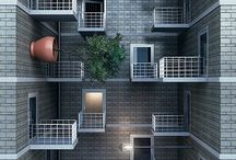 Apartment buildings / by Eric Hawkey