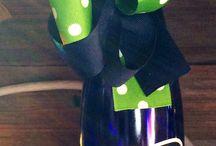 Wine bottle lights / by Lindsay Stancato