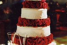 Cakes: Red Wedding / NOT my work. Just gorgeous cakes I love. / by Sheena House