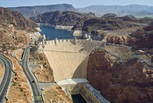 Hoover Dam  / Travel to Hoover Dam in style and comfort aboard our custom Tour Trekker. You'll truly appreciate the extra care and comfort you receive from Pink Jeep Tours. The Hoover Dam Discovery Tour offers ample time for exploring this National Historic Landmark and engineering wonder of the world. See, a fascinating film on the Dam's construction and history, exhibit gallery, observation deck, and venture down to the observation room. / by Pink Jeep® Tours