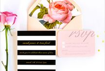 You're Invited / Invitations - Wedding, Bridal Shower, Bachelorette / by Martina Liana