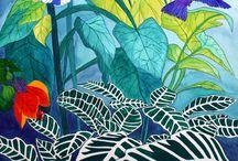 Newborn Nursery Rainforest Mural / by Robin McKerrell Photography