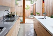 Downstairs kitchen / by Lindsay Blackburn