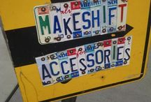 Re-purpose license plates / by ~Kare~