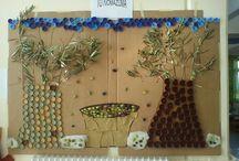 """Harvest Time- Η Ελιά και η Σπορά! / Κατασκευές για τη διαθεματική Ενότητα """"Σπορά"""", που περιλαμβάνει και το """"Ψωμί"""", καθώς και για την """"Ελιά"""" / by Elena Makri"""