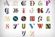 letters & type / by Molly Burgess