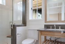 Bathrooms & Powder Rooms / bathrooms, master baths, vanities, powder rooms, showers, tubs, sinks, toilets / by Jennifer Tippett Photography
