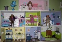 Z-American Girl Dollhouse ideas / by Jenifer K