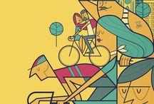 ilustraciones bicicletas / by Bicicletas Moma bikes
