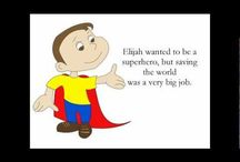 Children's Books - Elijah the Superhero / Elijah the Superhero and Elijah Makes New Friends are heartwarming children's books that teach kids the importance of being kind and accepting.  / by GetHappyTips