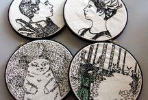 embroidery, needle work, stitching / by Olga wassupbrothers