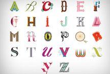 TYPOS / La typographie (souvent abrégé en typo) désigne les différents procédés de composition et d'impression utilisant des caractères et des formes en relief.   / by Monsieur Pop