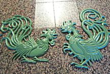 Retro Roosterware / Visit More Than McCoy for a large selection of rooster items for your kitchen collection! See the Kitchen Collectibles main category, then subcategory: Roosters.  / by More Than McCoy