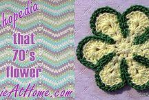 crochet flowers / by Jean Hoff