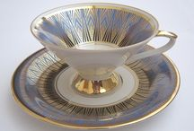 Everything stops for tea / Mostly Staffordshire teacups and saucers / by Buttons 'n Bows