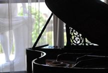 I Play the Piano♡ / My greatest love....my baby grand piano, and my gorgeous music room. I have taught piano  for years.  Free board...no copying whole board / by marie fricchione