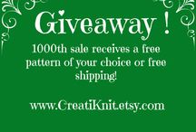 Freebies & Giveaways!! / Fun giveaways, contests & promotions from me, CreatiKnit! / by CreatiKnit