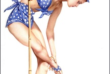 Pin Ups / pinups. Pinup art. 40s 50s 50s sexy pinup girl art. pinup girls Hollywood, starlets, Elvgren art and more / by Chase Tylerson