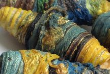 Beads.........handmade / Tips for Making Your Own Fabric Beads / by Sylvia -