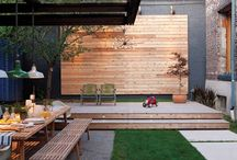 garden hardscaping ideas / by Jennie Clements